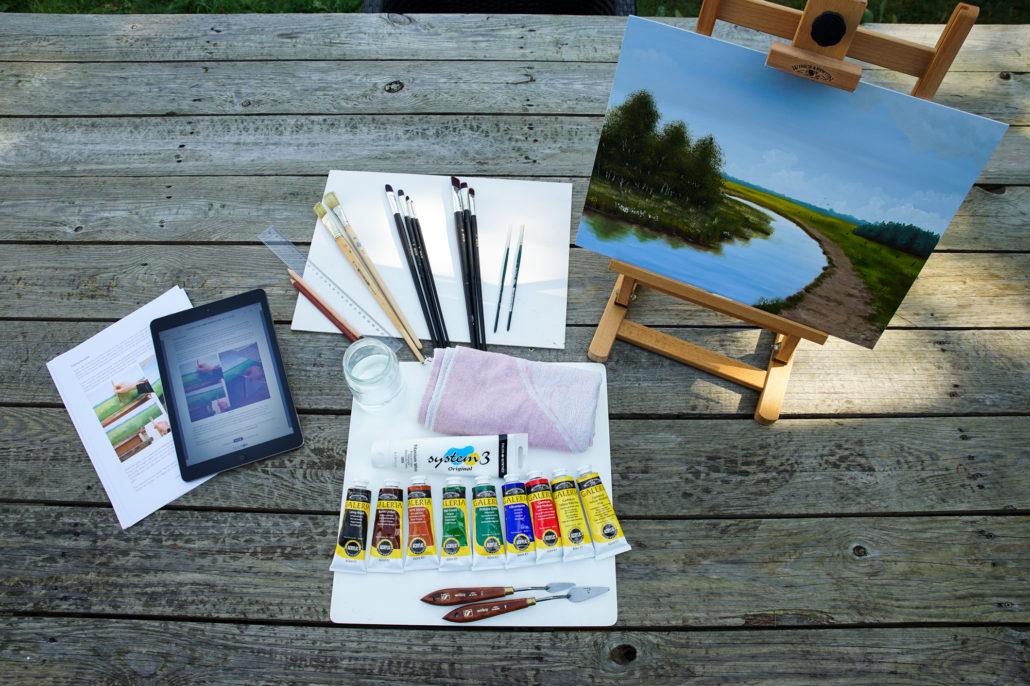 Leer schilderen als een Meester, de online schildercursus van Michel van den Einden, kunstschilder en schilderdocent. Leer schilderen met olieverf en acrylverf.