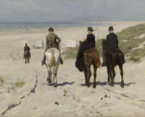 Onlinelerenschilderen Blog | Leer schilderen als een meester - Morgenrit langs het strand - Anton Mauve